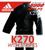 Купить  ADIDAS Купить чёрное кимоно для карате K270 BLACK WITH STRIPES